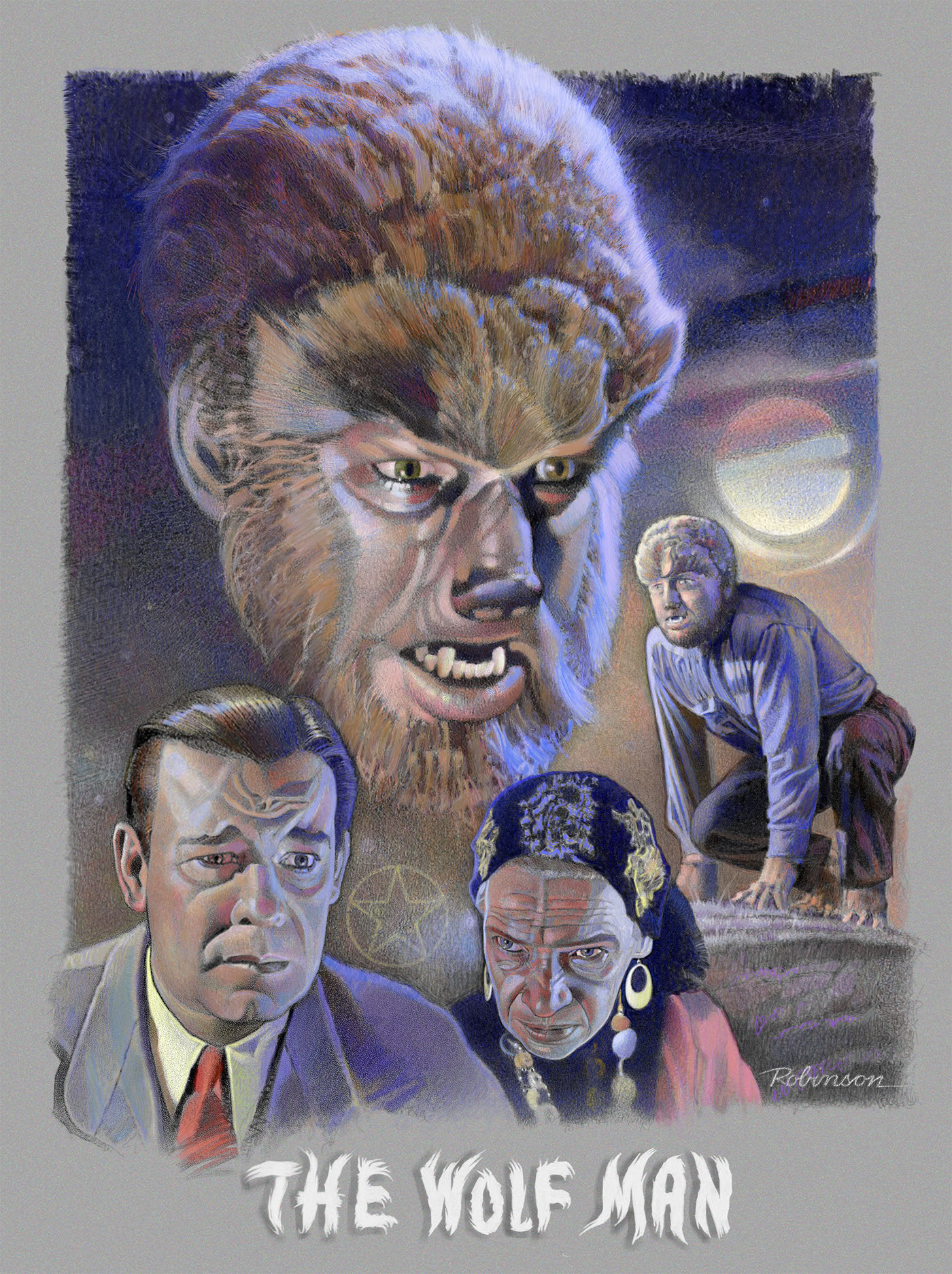"""Lon Chaney Jr. in """"The Wolf Man"""" (1941) on Behance"""