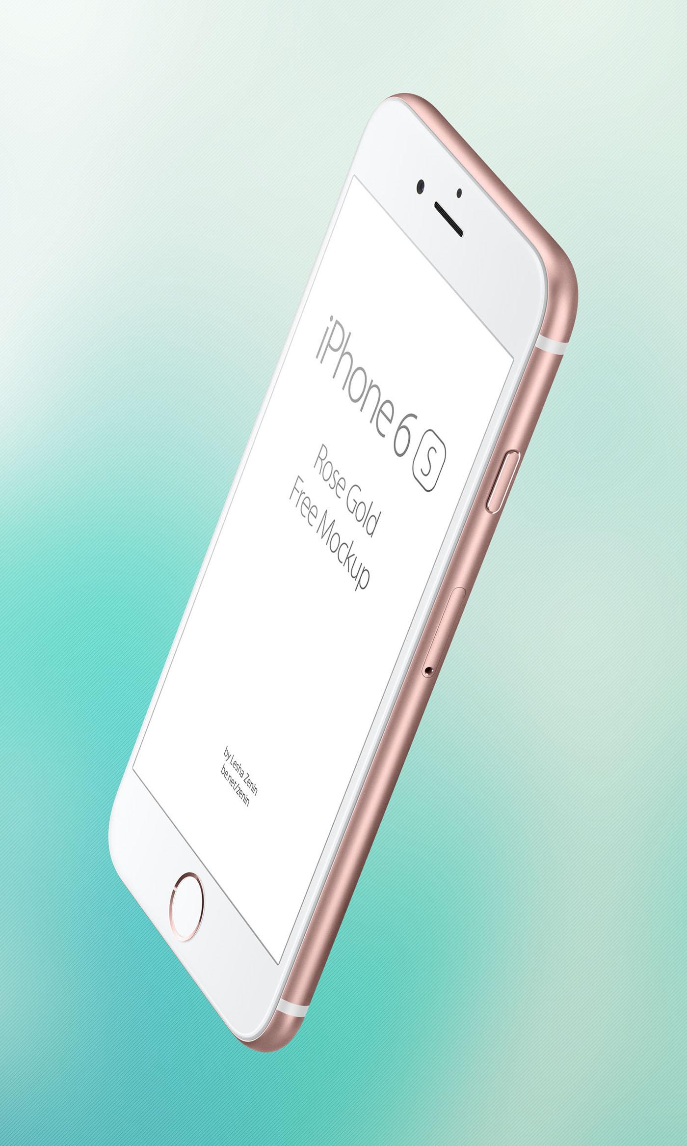 iphone 6s rose gold free psd mockup on behance. Black Bedroom Furniture Sets. Home Design Ideas