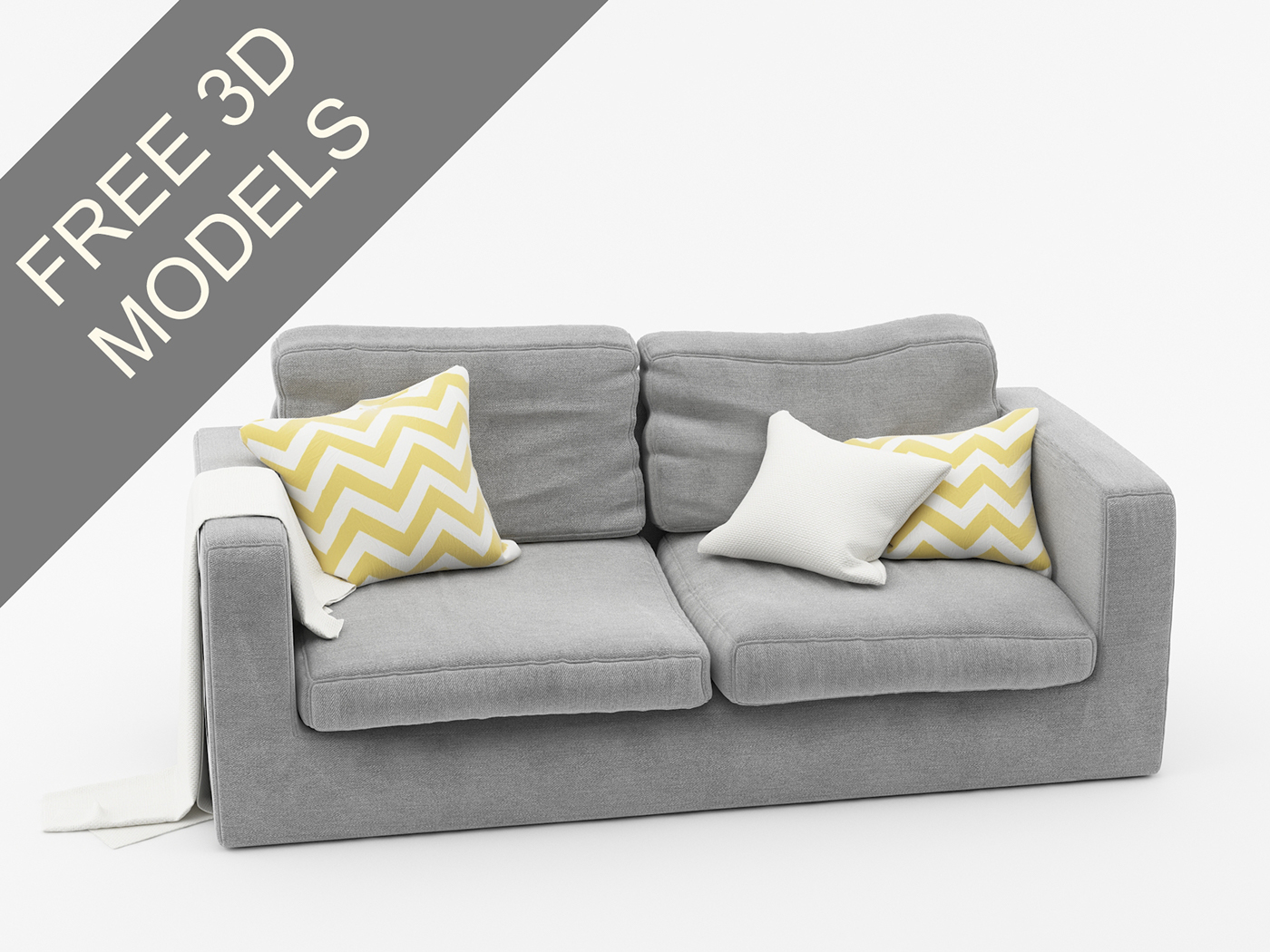 Nice FREE 3D MODEL OF SOFA VRAY On Behance