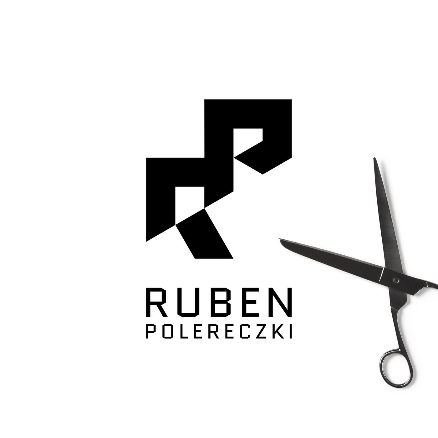 identity branding  logo barber salon hair studio minimal vector hairdresser