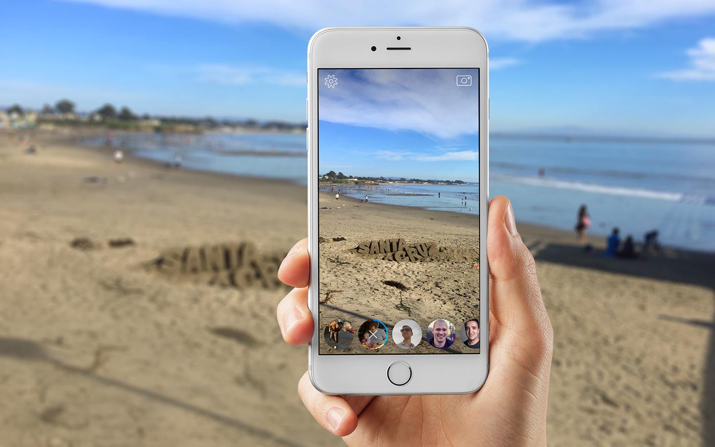 facebook messenger camera app ios send concept prototype