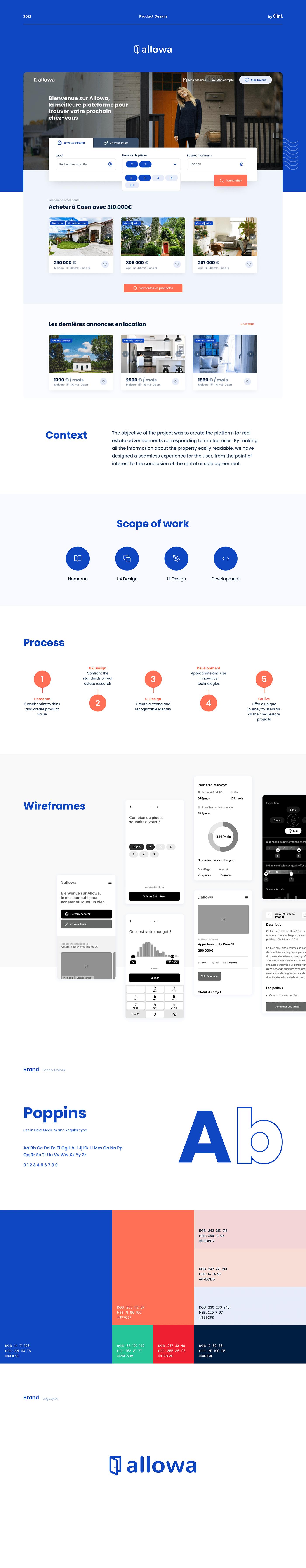 product real estate UI ux Web Design  Website