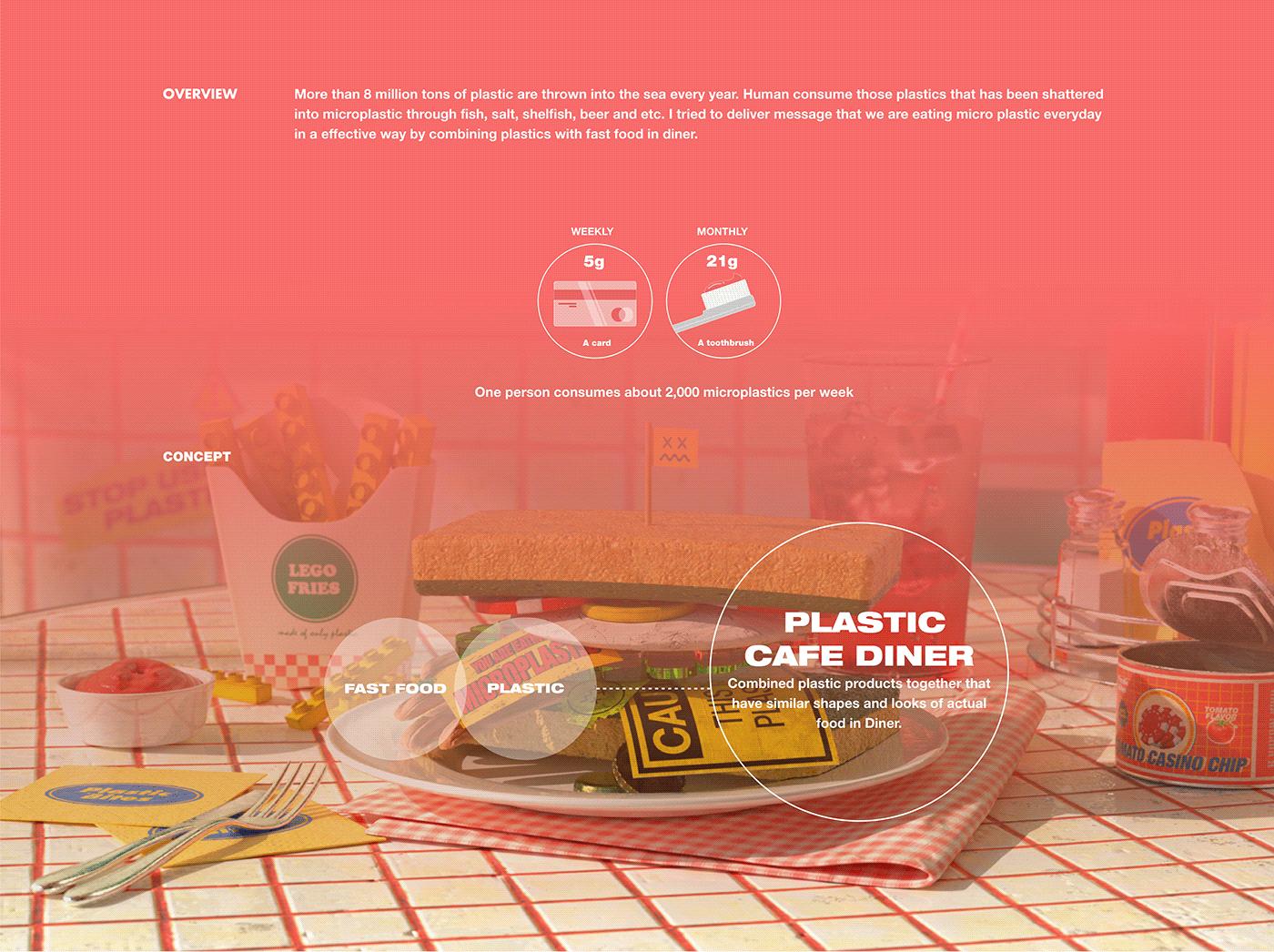 3D cinema 4d diner motion graphic octane plastic Retro