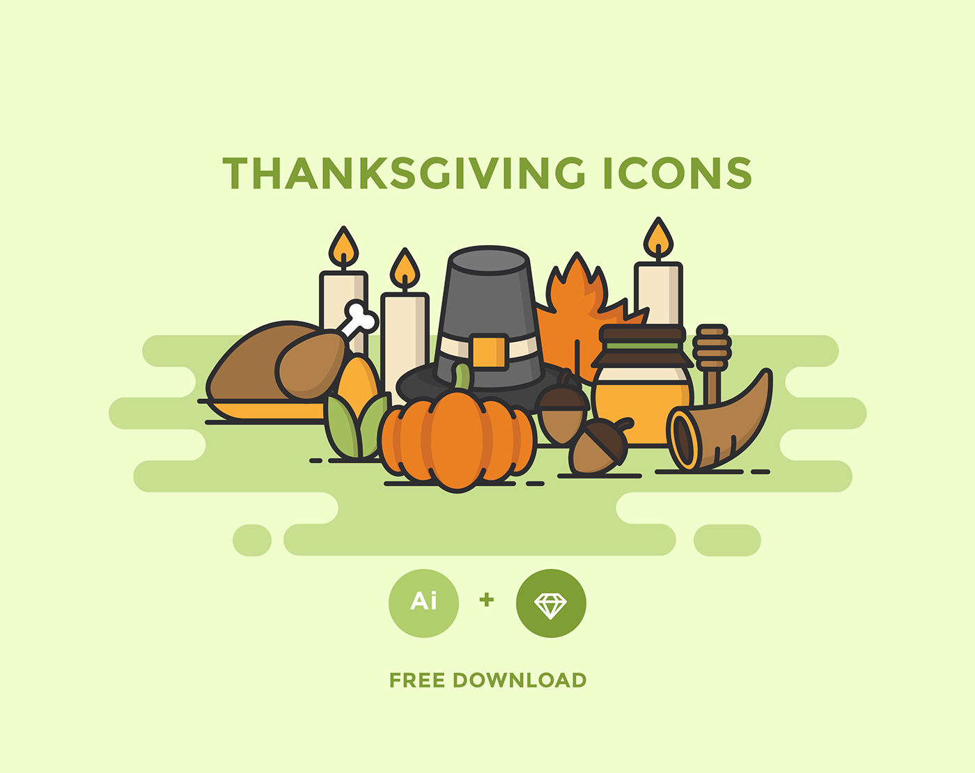 free thanksgiving icons on behance
