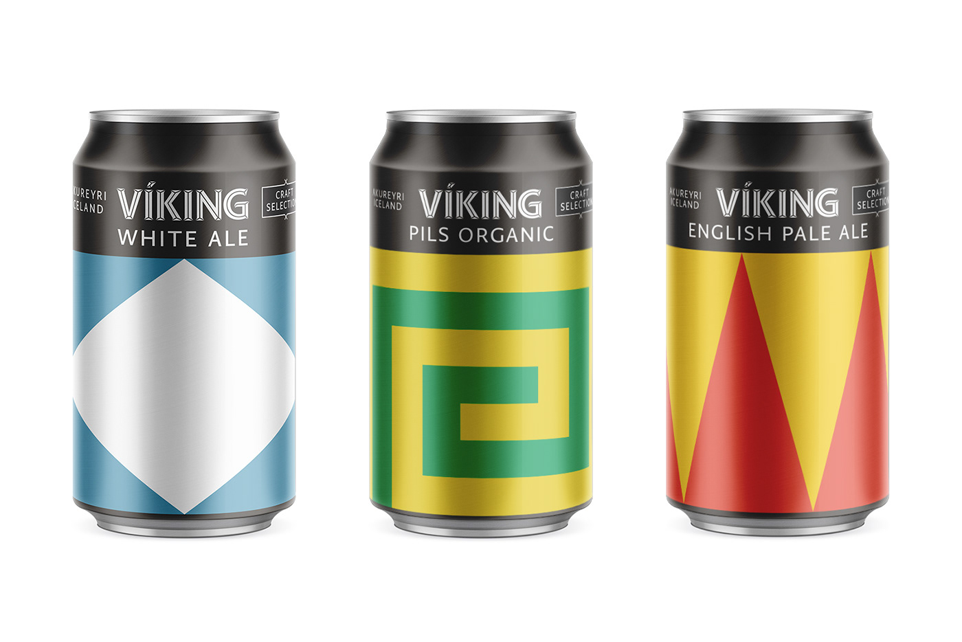 beer Packaging branding  identity ILLUSTRATION  minimal geometric viking iceland craft