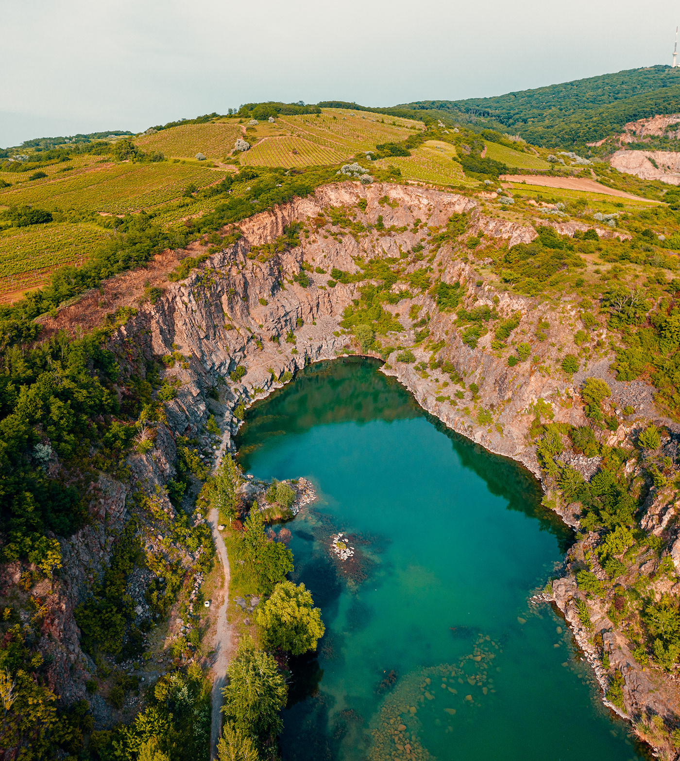 Aerial deep water drone fine art hungary lake Landscape mine Nature water