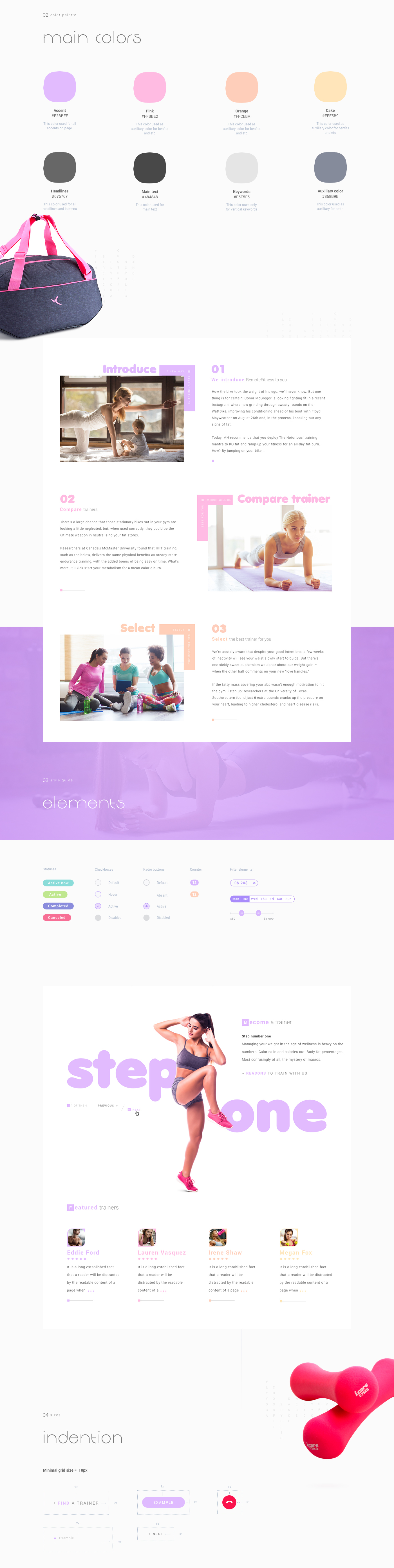 UI ux fitness web project sport Appointment app scheduling app Web Design