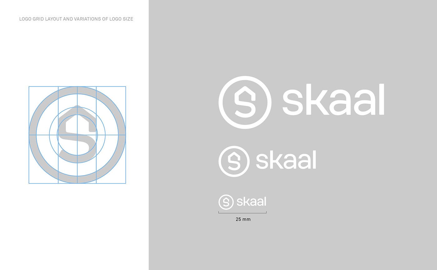 agent application branding  design digital house logo real estate red typography