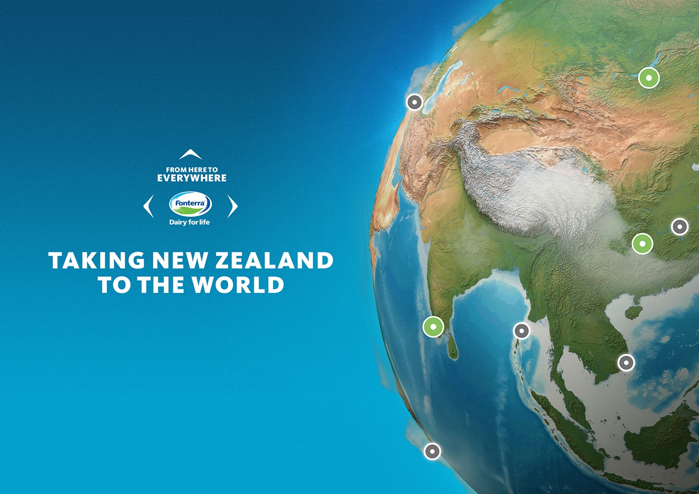 Fonterra from here to everywhere on behance new zealands biggest company wanted to show how small town kiwi innovation has improved health and nutrition all over the world gumiabroncs Gallery