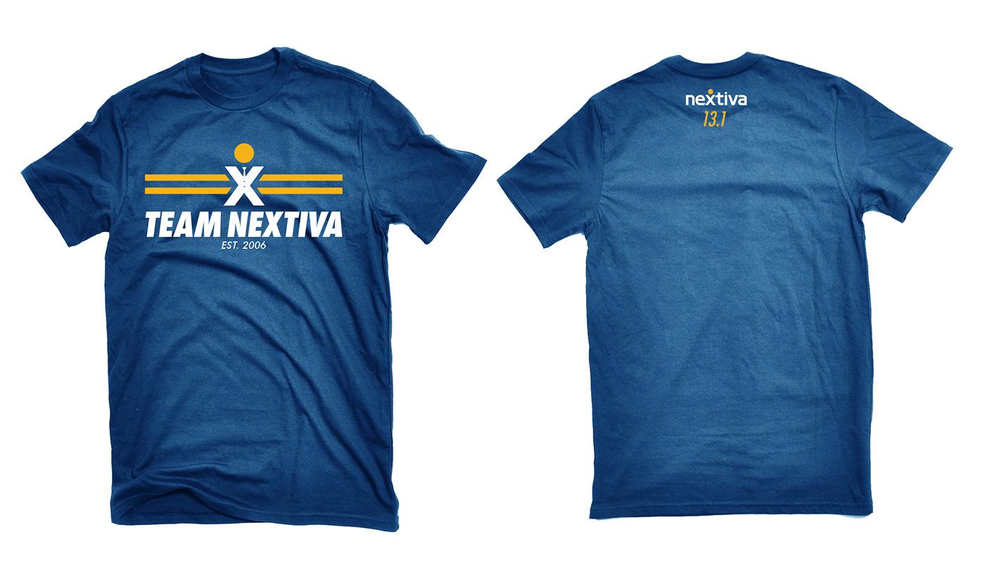 Team Nextiva Running Shirt Design On Behance