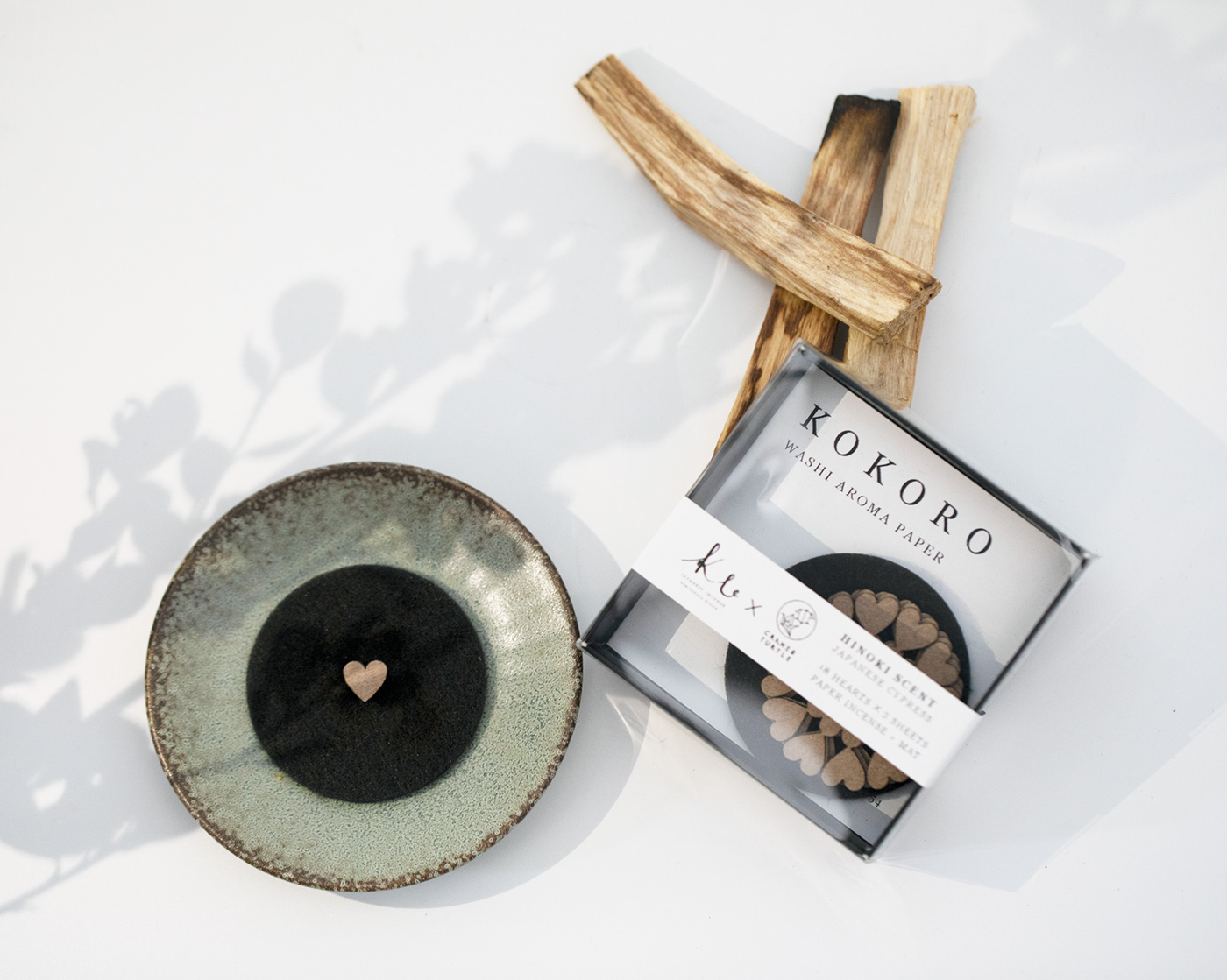 Aroma heart Incense japanese natural paper relax washi wood zen