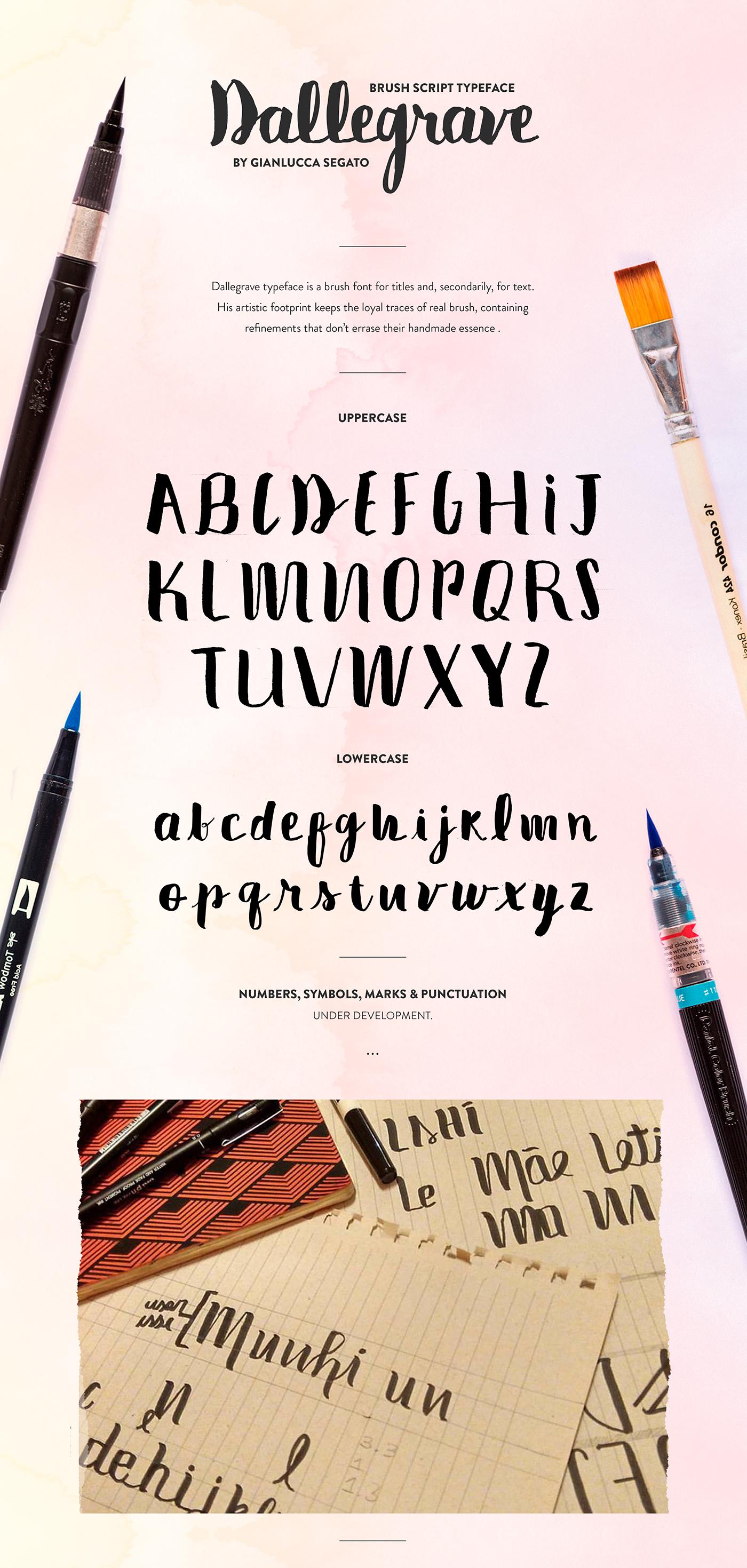 free Free font font brush Script Typeface lettering handmade dallegrave libre gianlucca segato nude Pilot canson