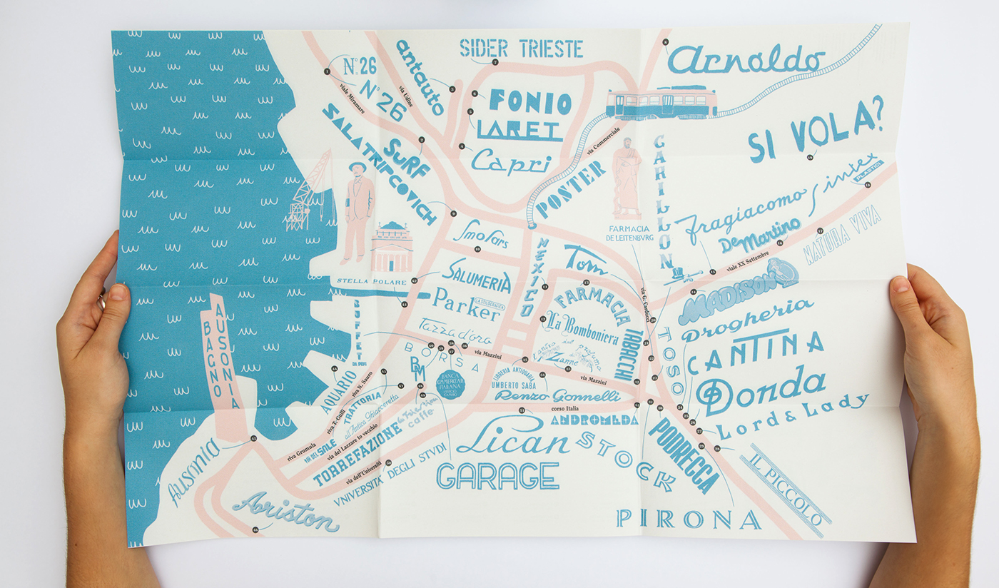Signage,insegne,lettering,city maps,Palermo,illustrated map,vernacular,lettering urbano,trieste,NAPOLI