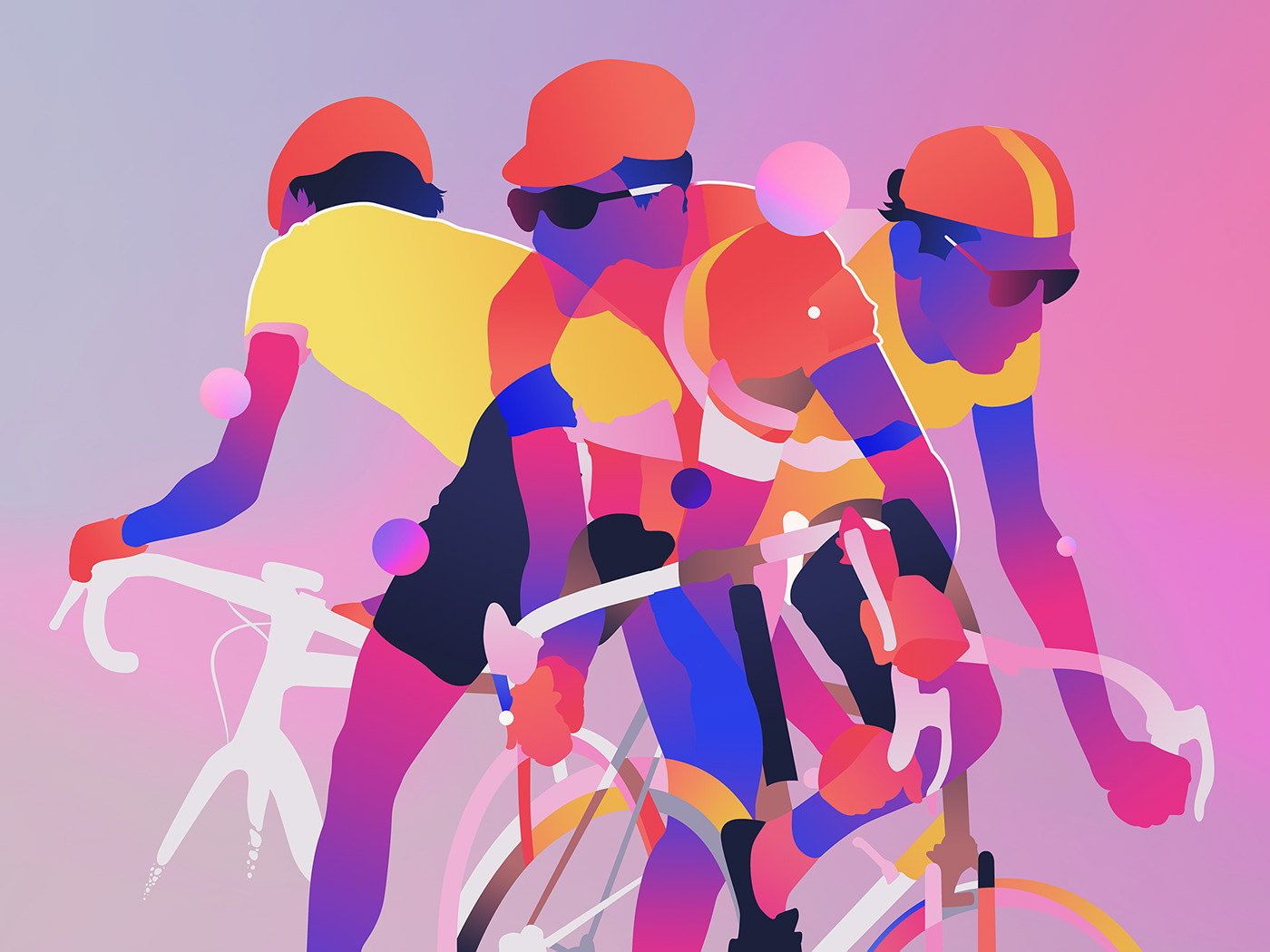 Rapha,Cycling,Racing,sport,Bicycle,letour,Colourful ,portrait,Drawing