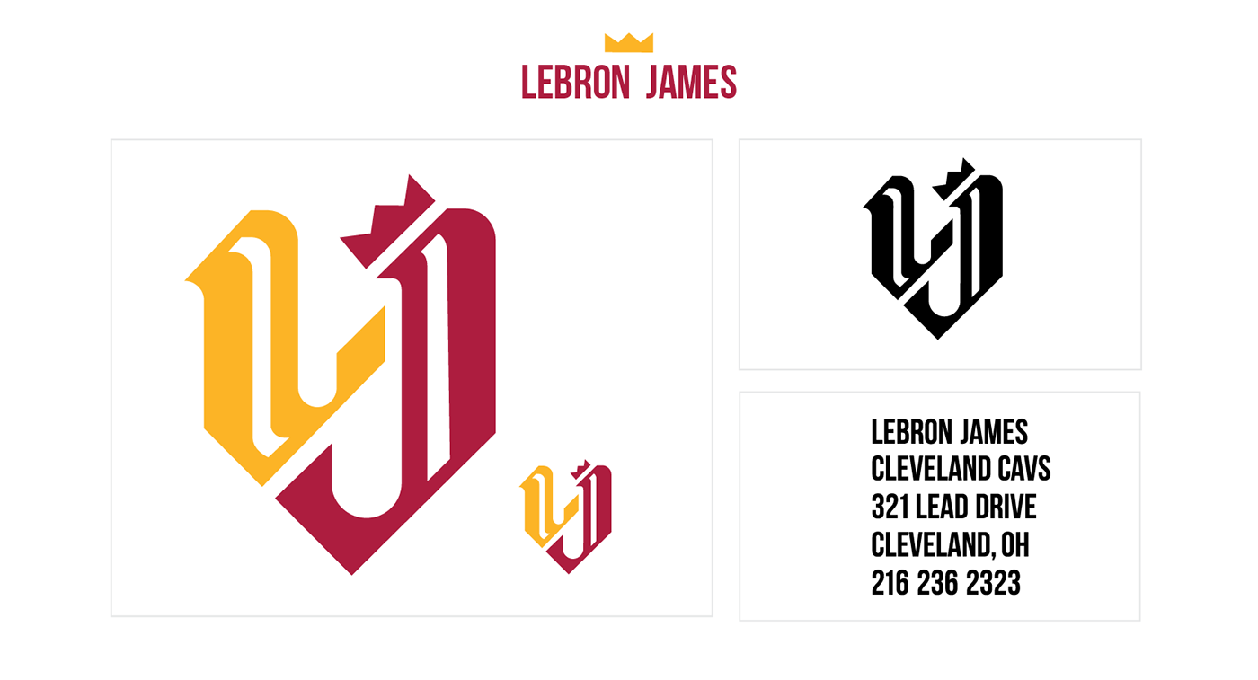LeBron James Monogram and Business Card on Behance