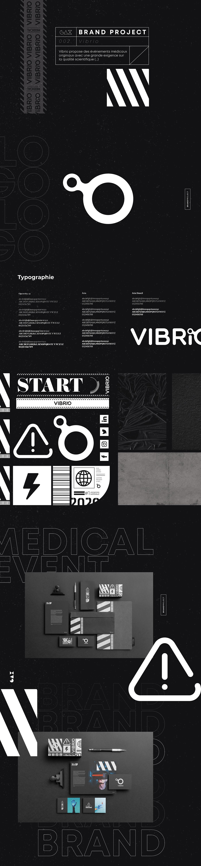affiche black branding  evenementiel logo monochrome Cyberpunk medical retro futurist