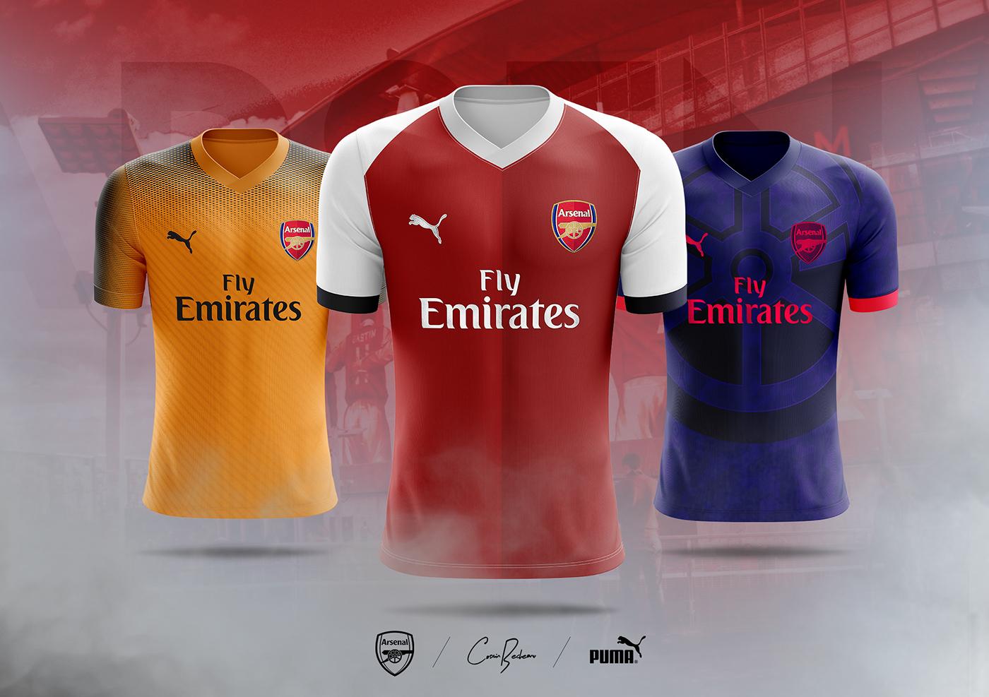 low priced 38fd5 2c105 Arsenal FC - PUMA - Concept 2019 on Behance
