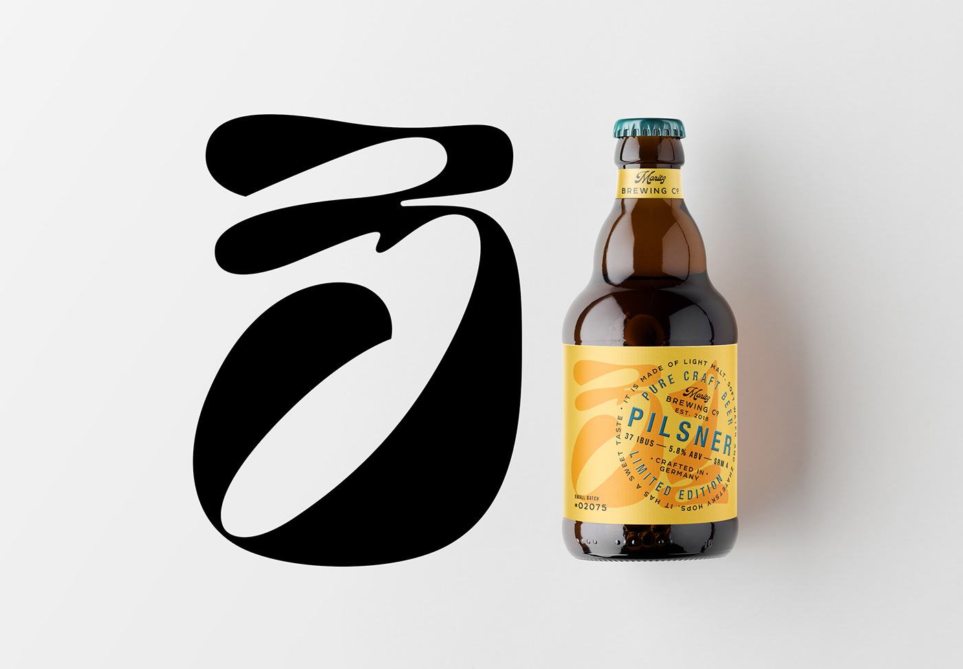 alcohol beer brand identity brewery craftbeer drink Label lettering Packaging typography