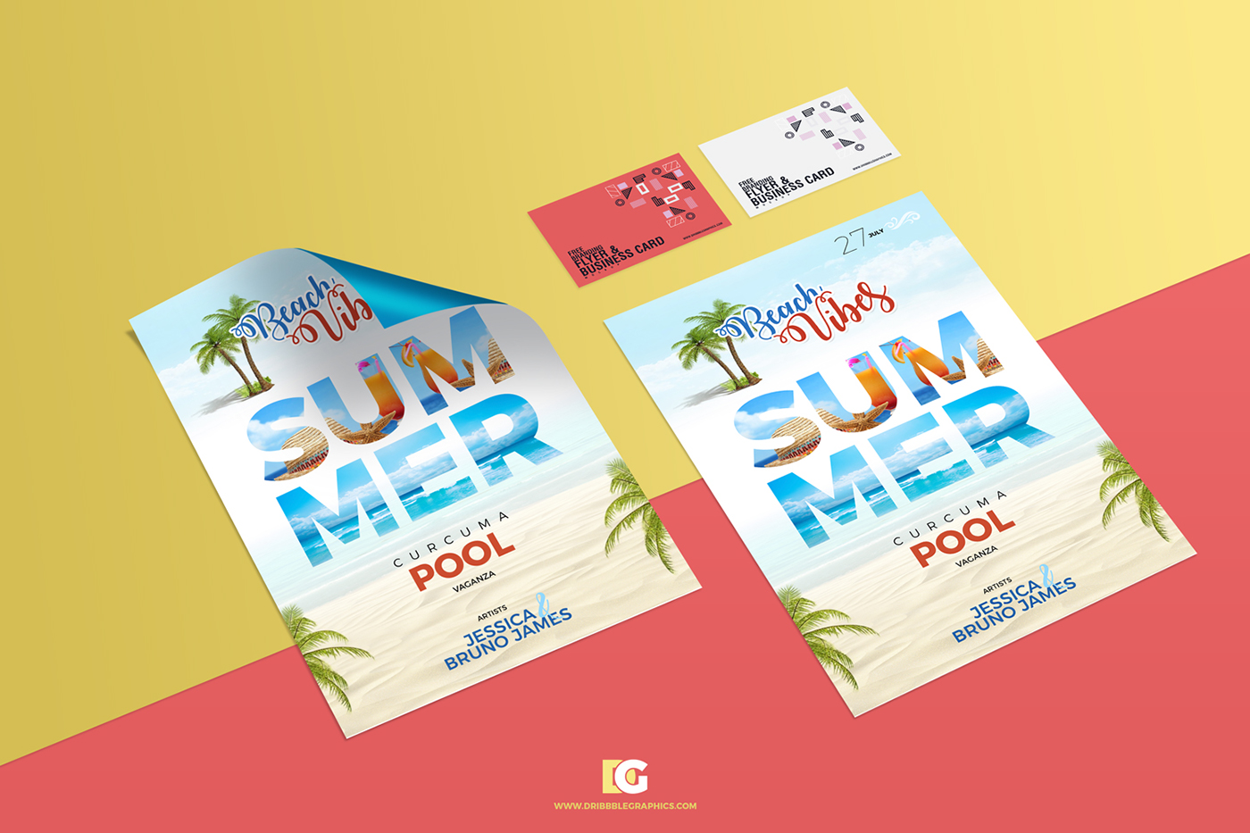free branding flyer business card mockup on behance