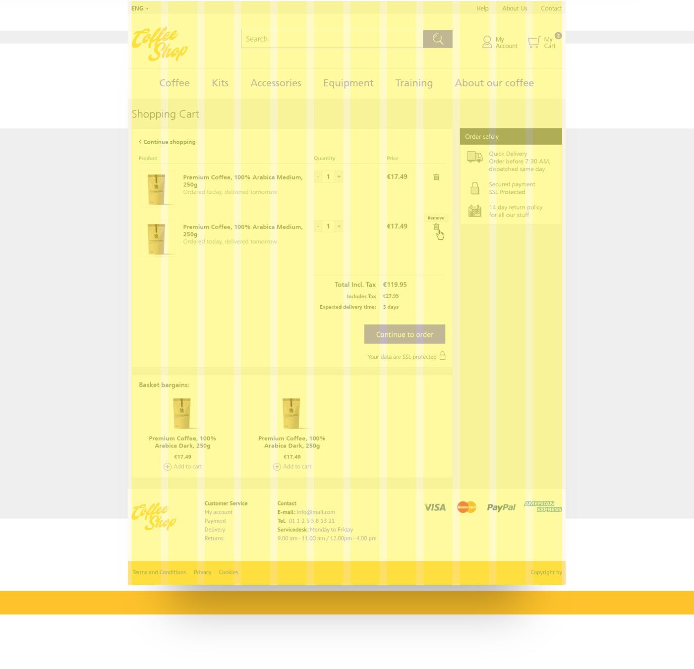 Webdesign concept e-commerce checkout Shopping ux UI