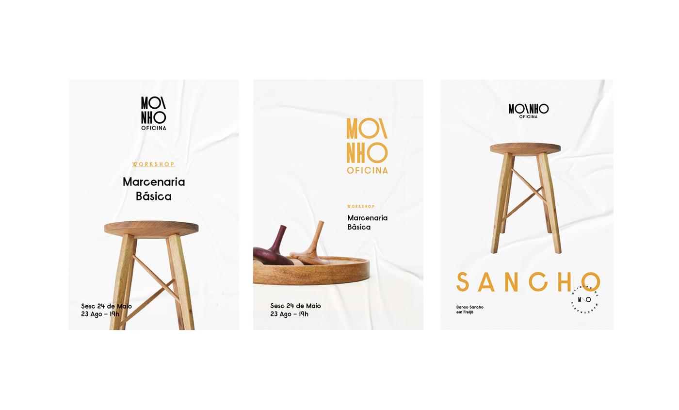 brand branding  Packaging woodwork artisan wood wooden Workshop Carpentry architecture