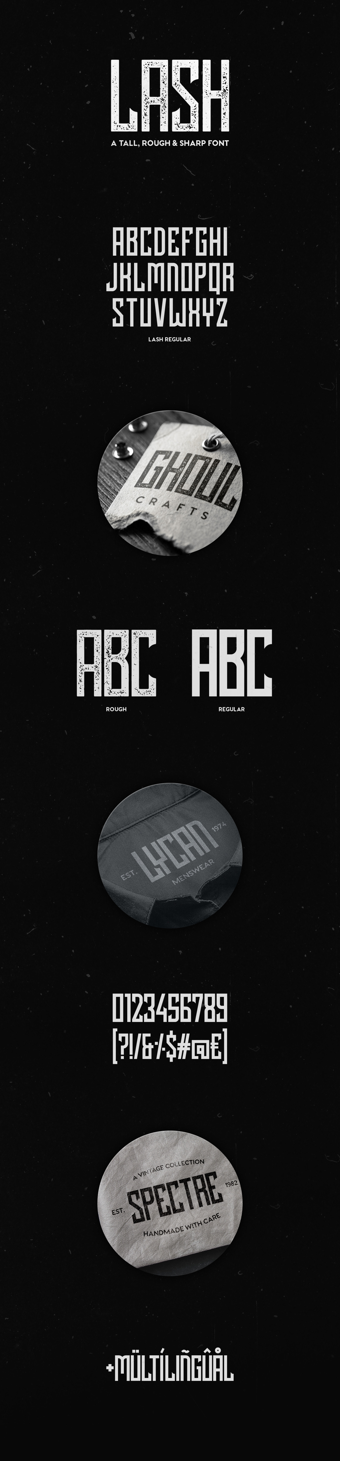 free font Typeface vintage Retro textured rough Display Title cover