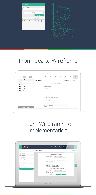 Vehicle ux UI websystem system Web design tracking