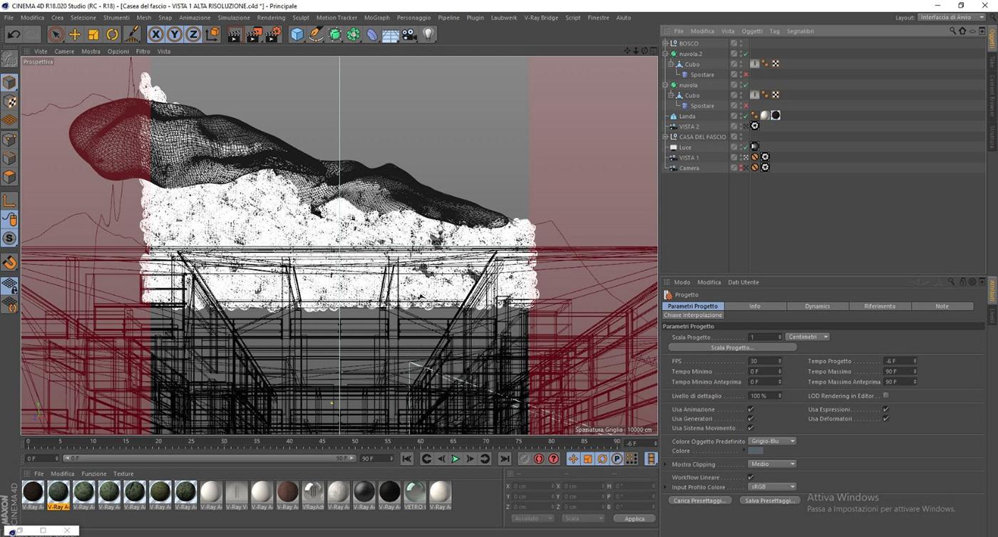 Terragni architettura CGI Render rendering archviz digital photography  break down