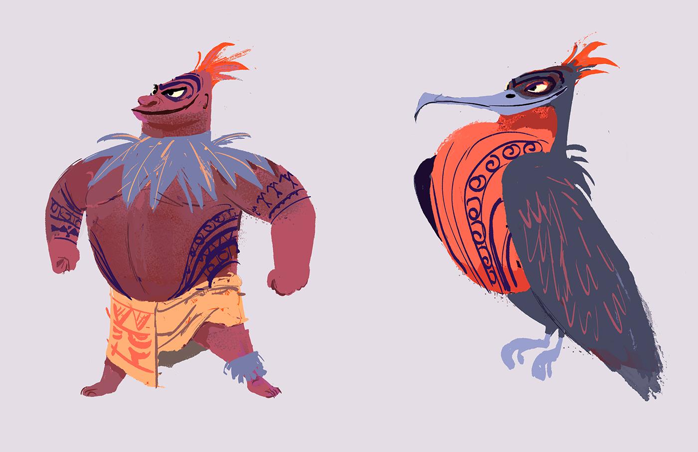 Moana Disney Character Design : Moana character designs on behance