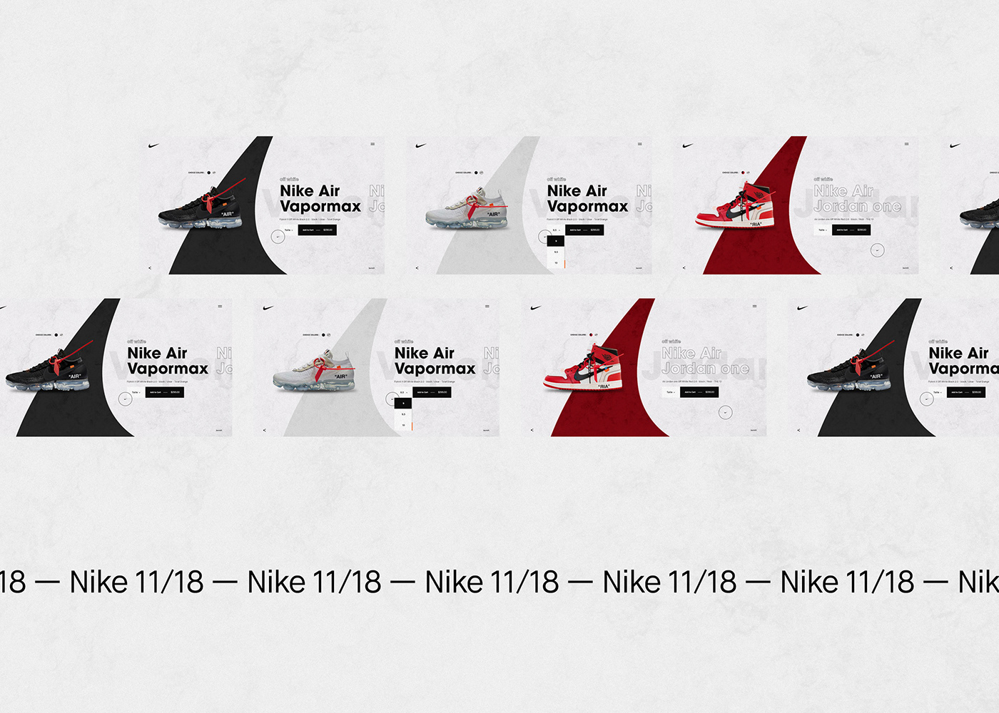 Webdesign Website motion design design Web site Nike Interface ux Conception