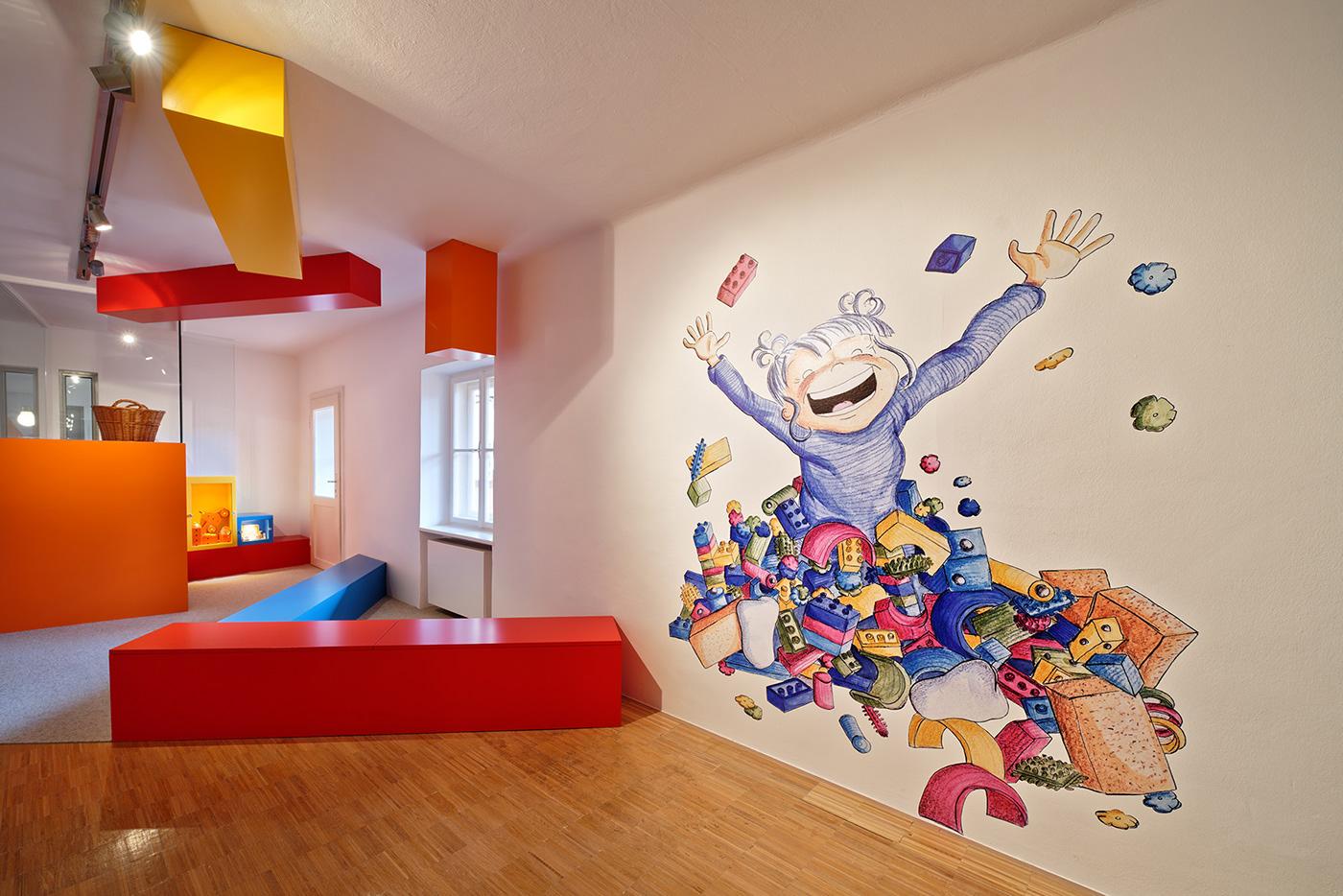 Exhibition  exhibitiondesign graphicdesign toymuseum wirsindartisten
