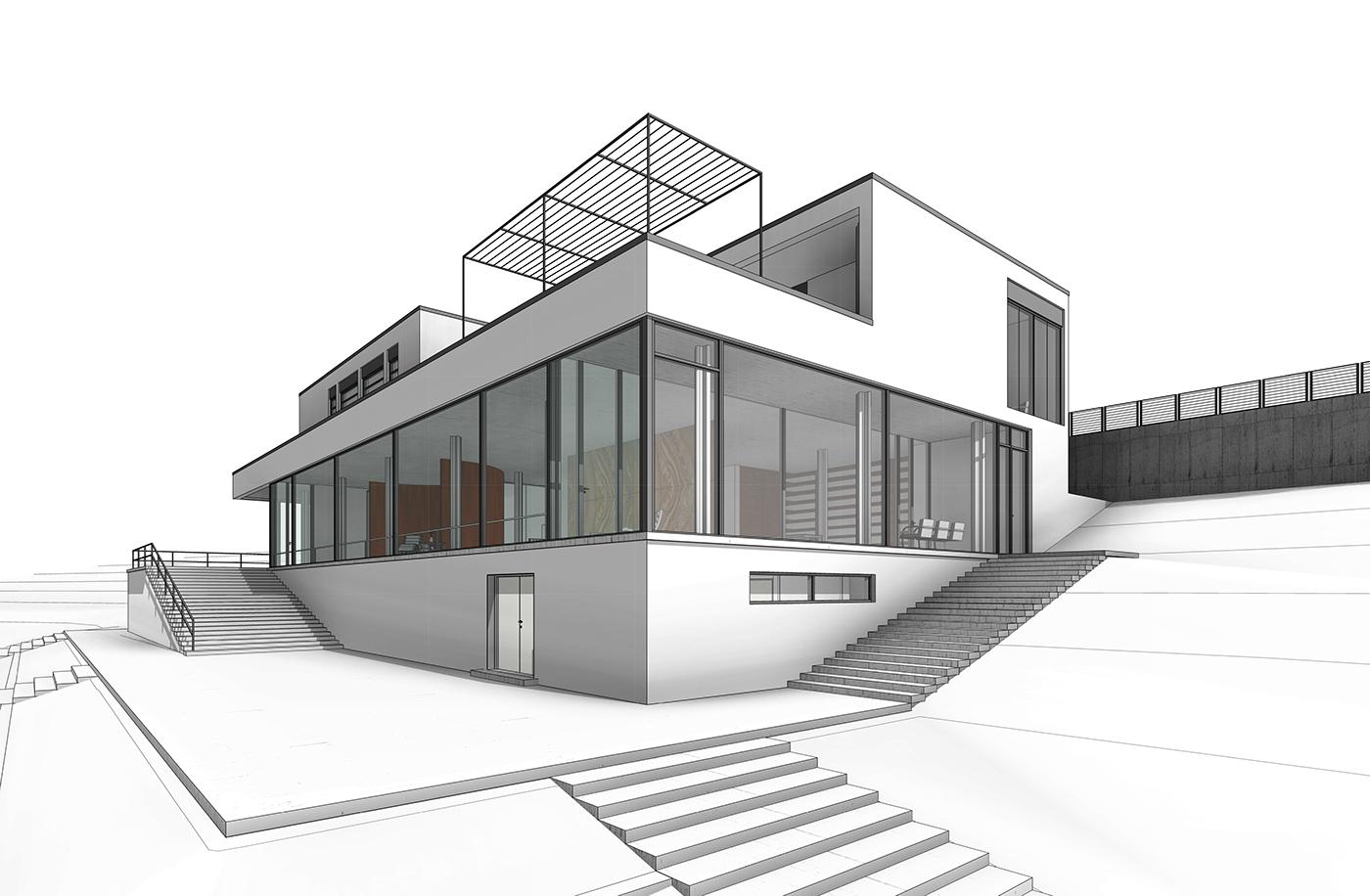 Drawing Lines Revit : Revit training villa tugendhat on behance