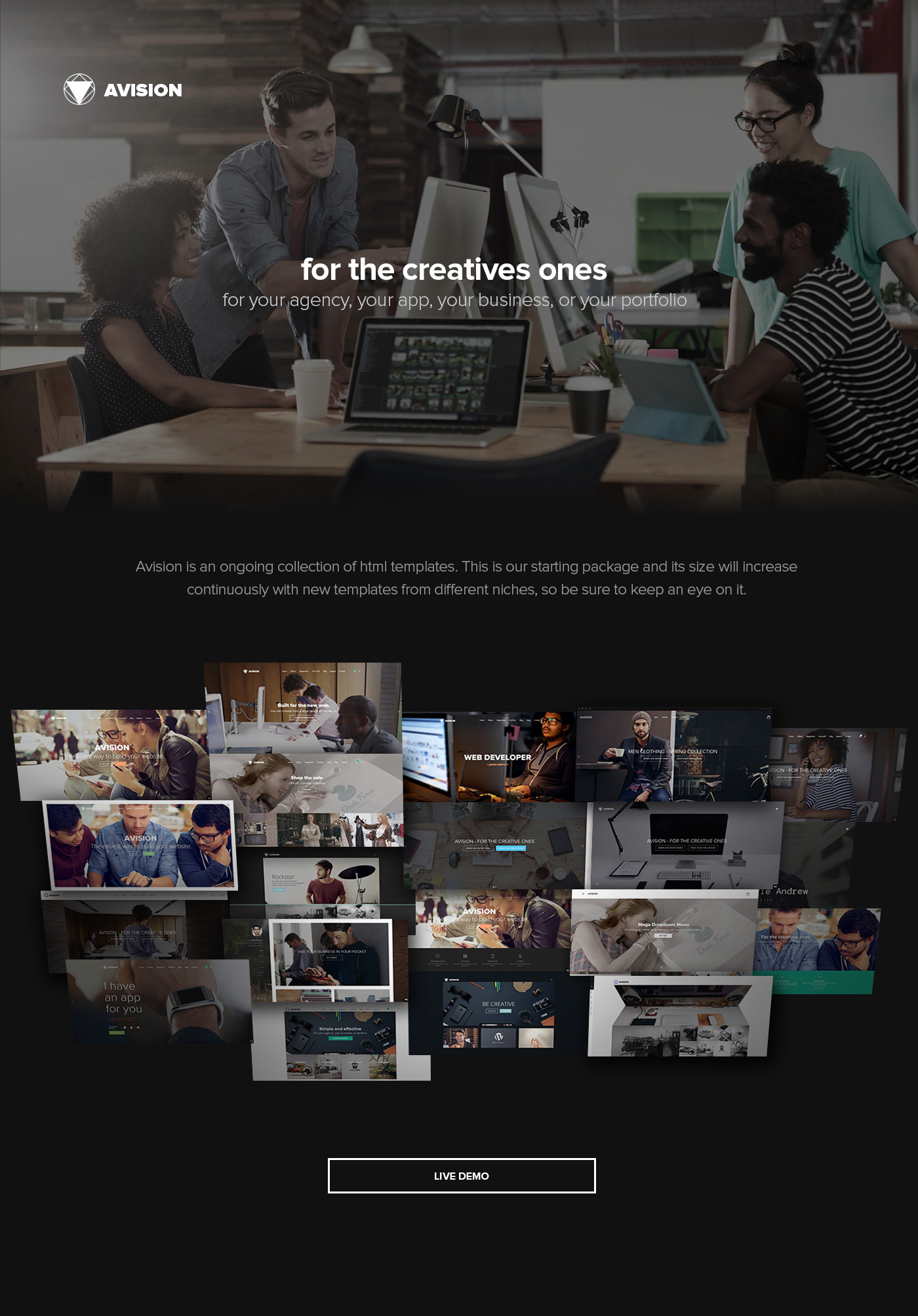 Avision - MultiPurpose HTML5 Template on Behance