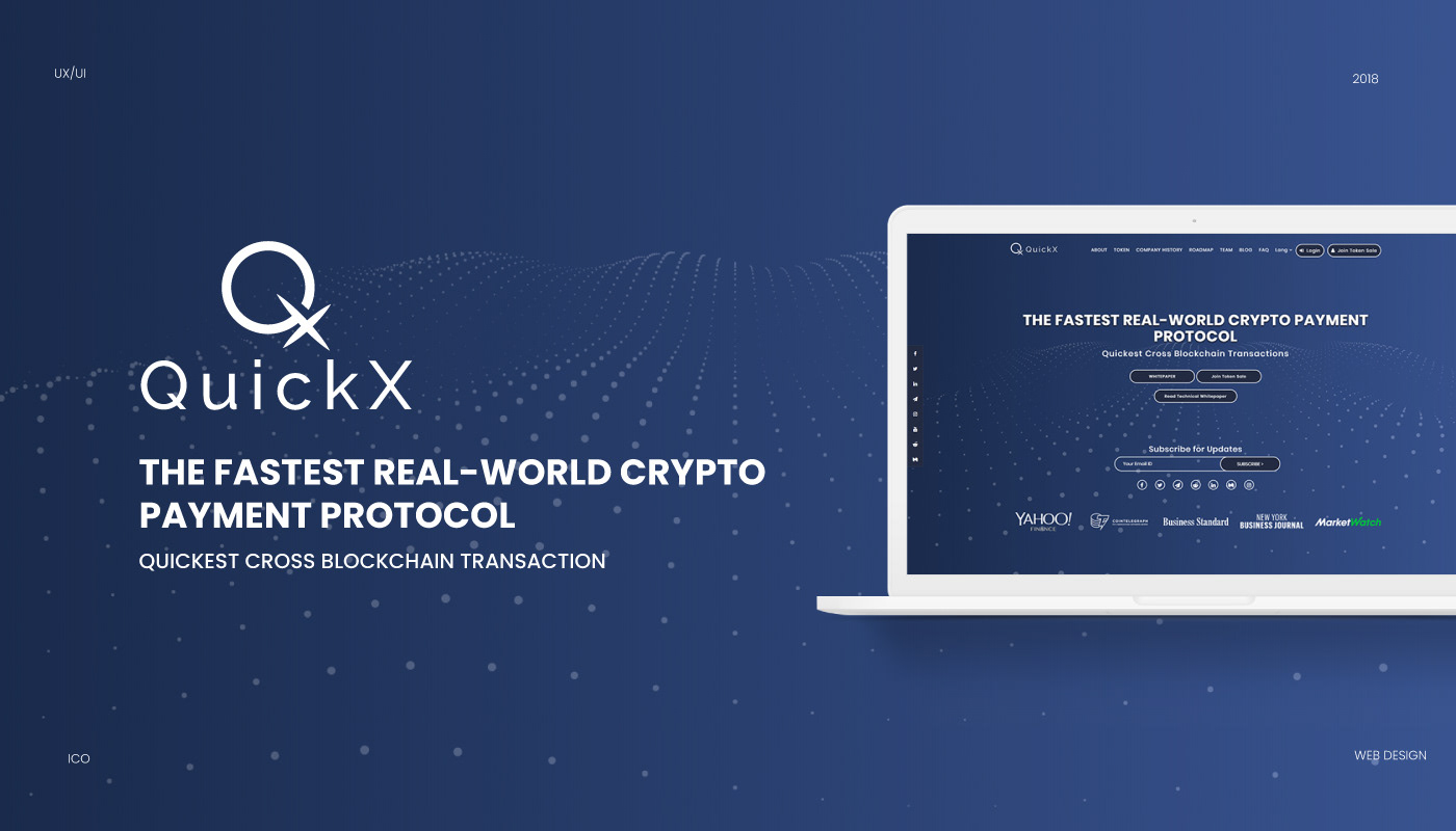 blockchain Ico crypto Web Design  Website Design branding  brand Website Fintech cryptocurrency