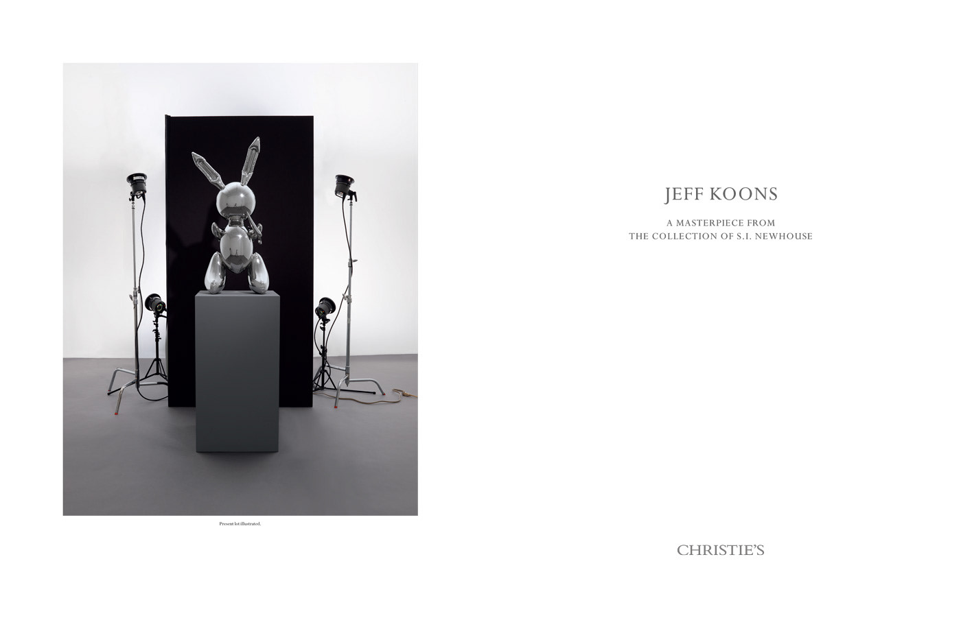 auction book Catalogue fine art koons luxury reflection stainless steel art christie's