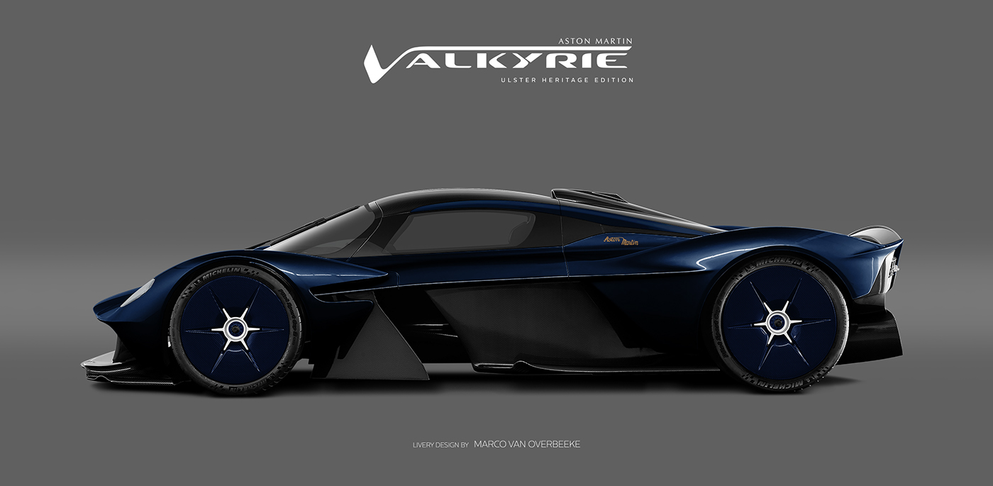 Aston Martin Valkyrie Amr Pro Heritage Livery Concepts On Behance