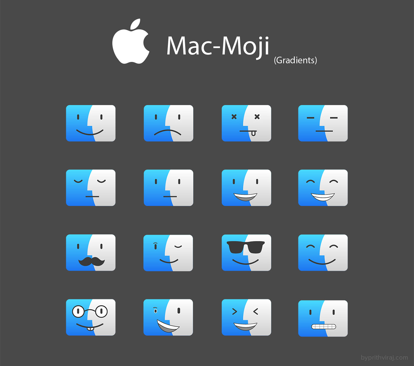 Macintosh mac emoji finder icon finder Emoji mac gradients stroke icons