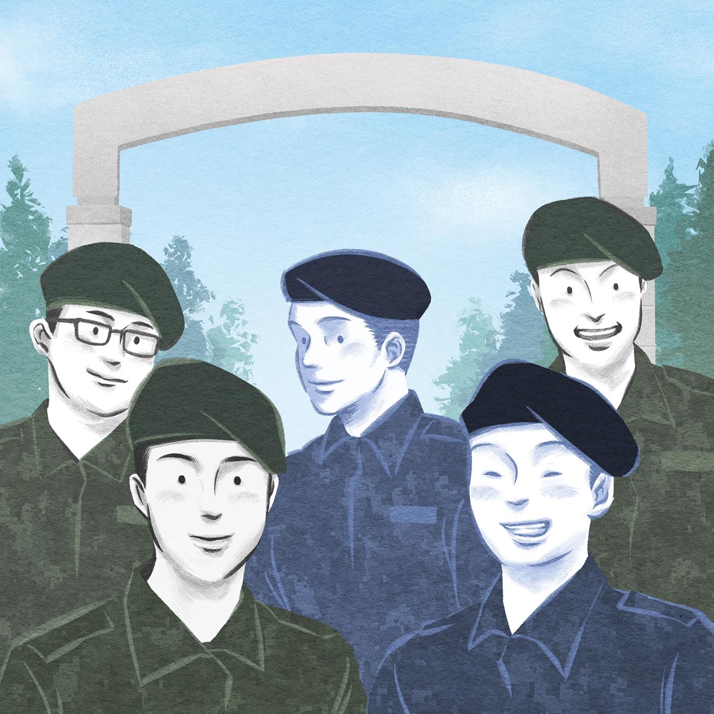 Image may contain: drawing, cartoon and human face