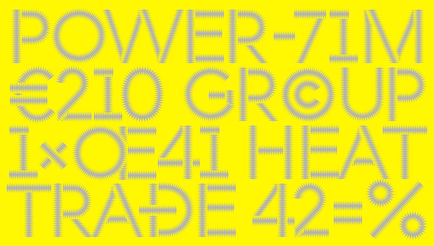 biofuel electric energy Gas heat identity power trade type design Typeface