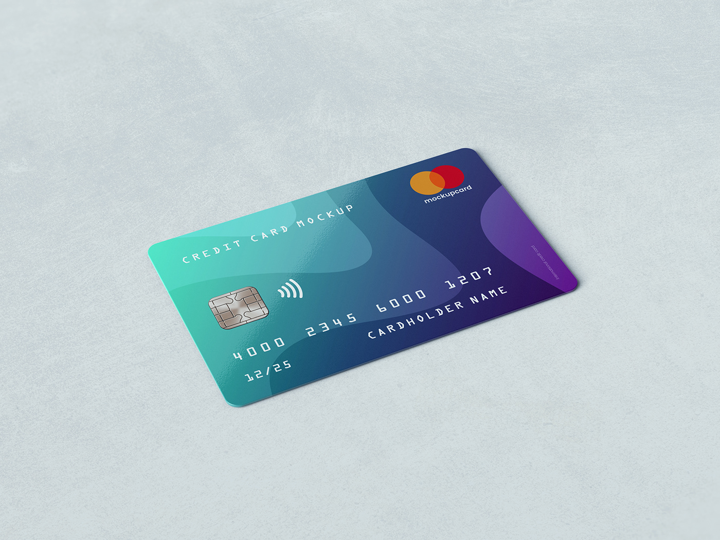 Credit Card Membership Mockup On Pantone Canvas Gallery