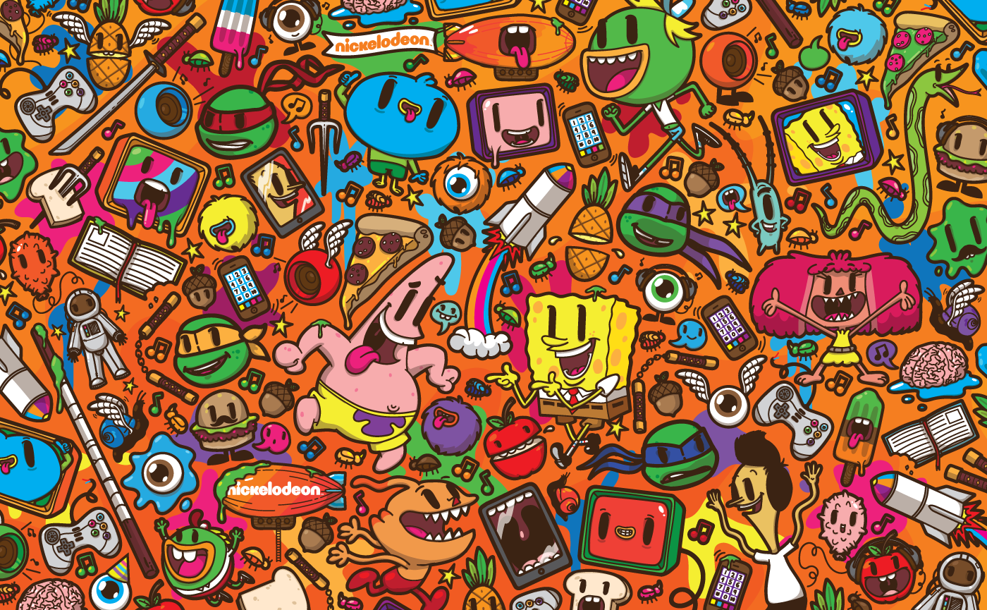 Character Design Nickelodeon : Nickelodeon franchise pattern on behance