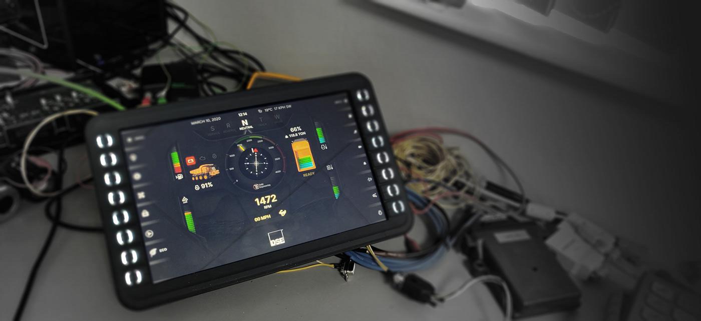 cluster dashboard hmi instruments Interface machine UI user ux xD