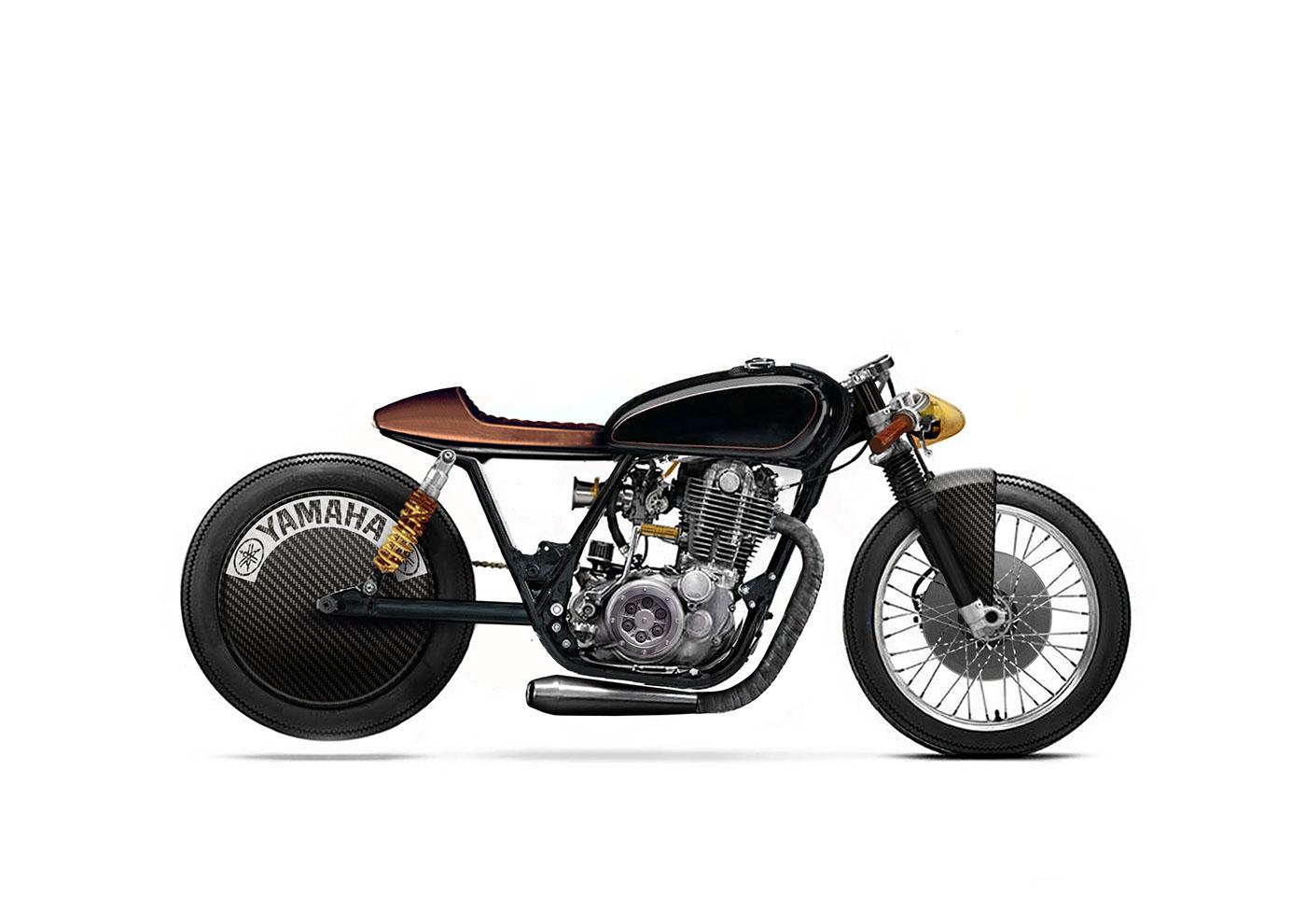 Yamaha Sr500 Cafe Racer 1 8 Mile Concept Motorcycle On Behance