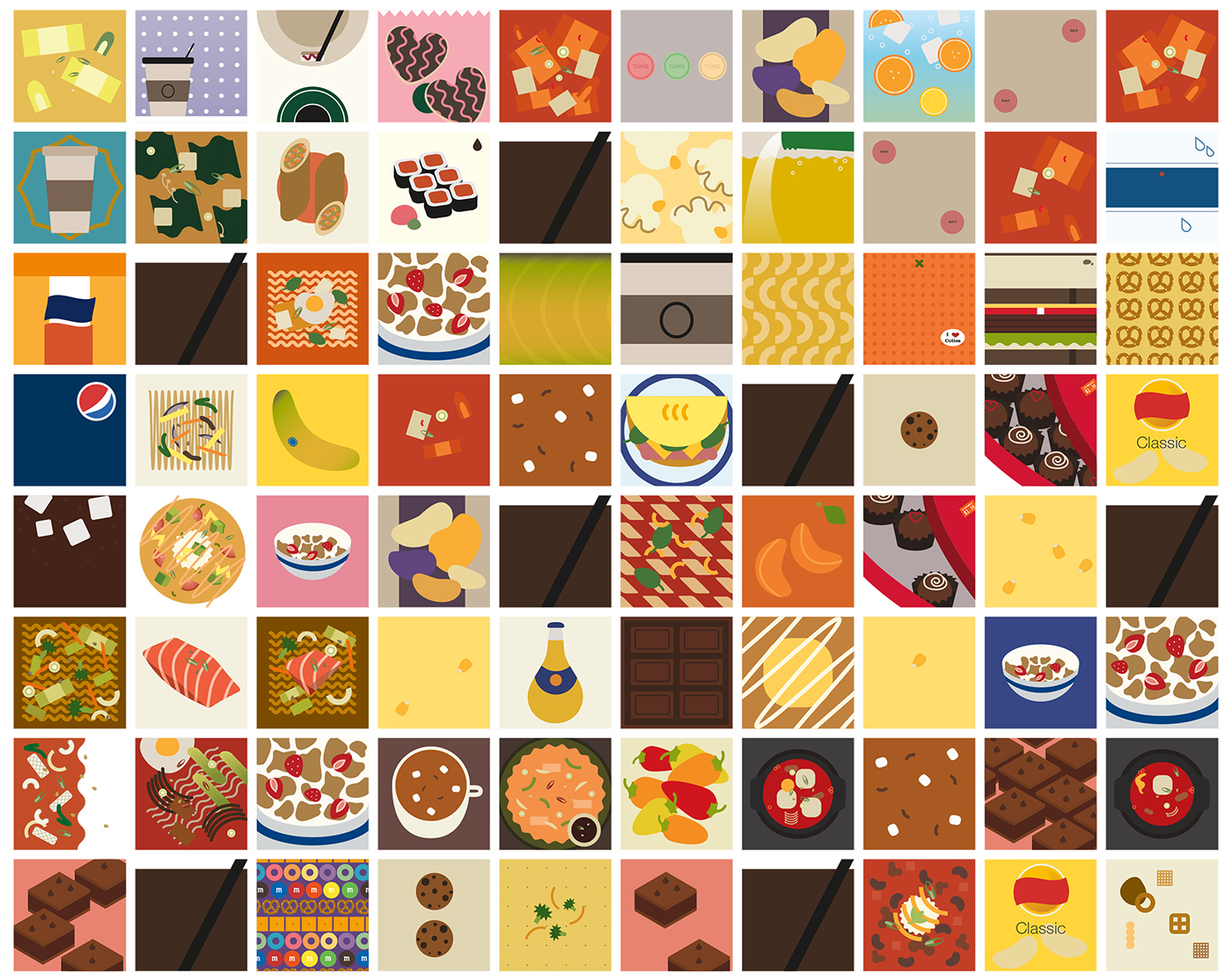 Food  design eat dessert installation identity brand system daily personal 365 Day experiment everyday #MakeItNYC MakeItNYC