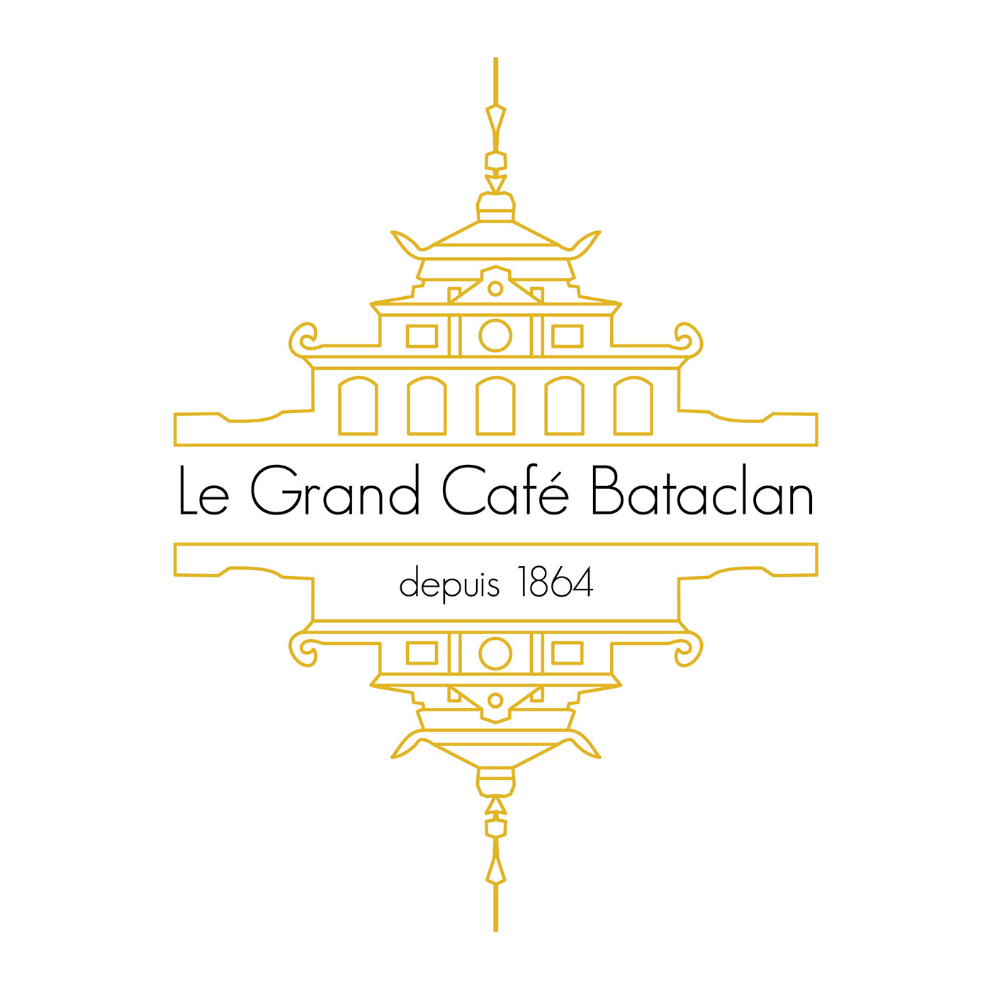 Paris Bataclan cafe restaurant logo