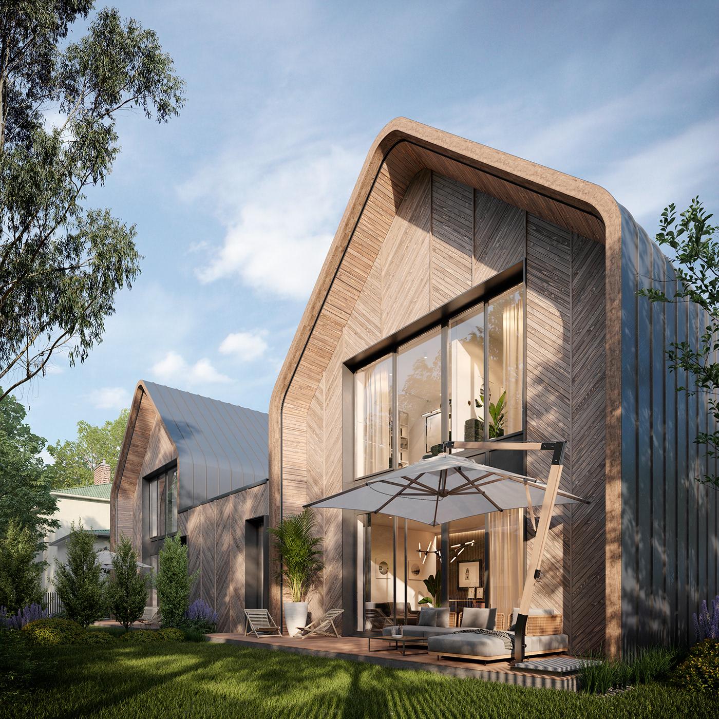 architecture archviz design exterior Render
