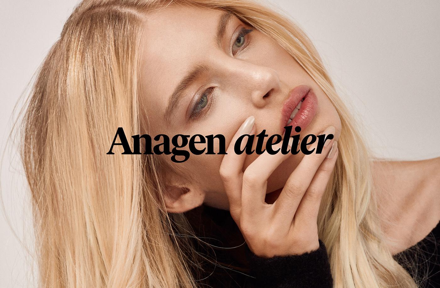 anagen salon beauty modern minimal identity feminine product extensions yungbld