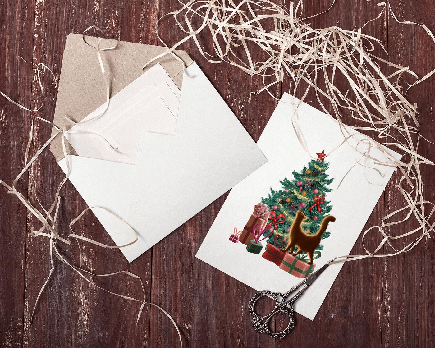 Artistic Christmas Greeting Card Soviet Inspired On Behance