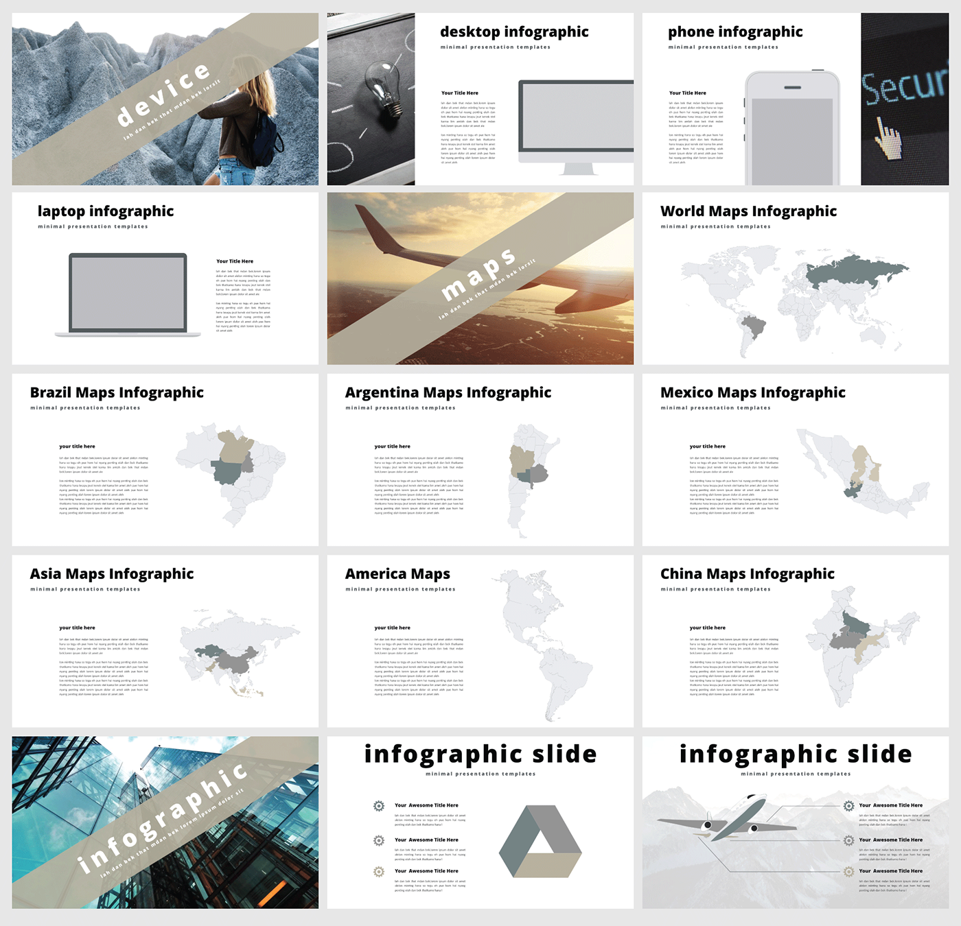 free multi powerpoint template on behance