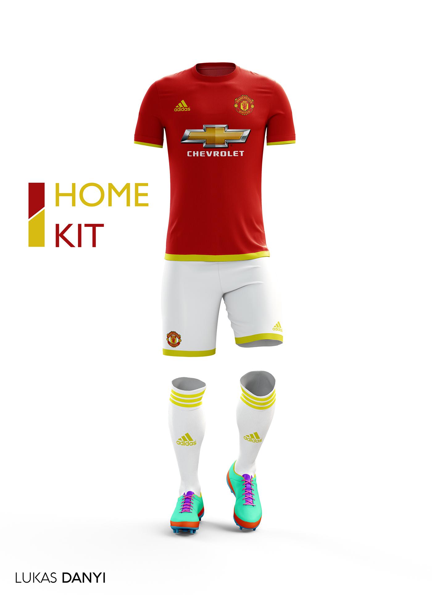 Manchester United Football Kit 16/17. on Behance